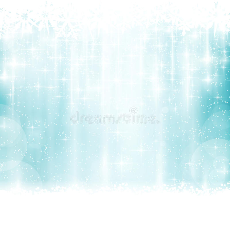 Blue winter, Christmas background with light effects royalty free illustration