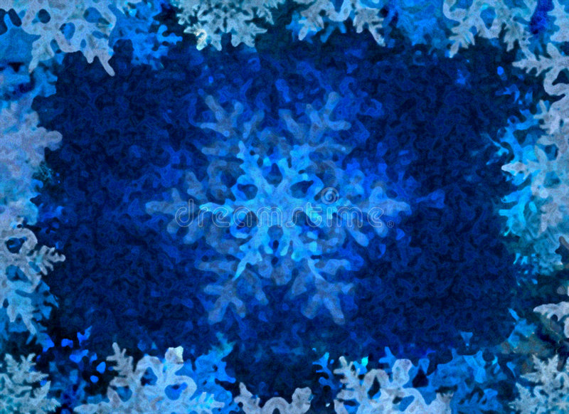 Blue Winter Ice Background