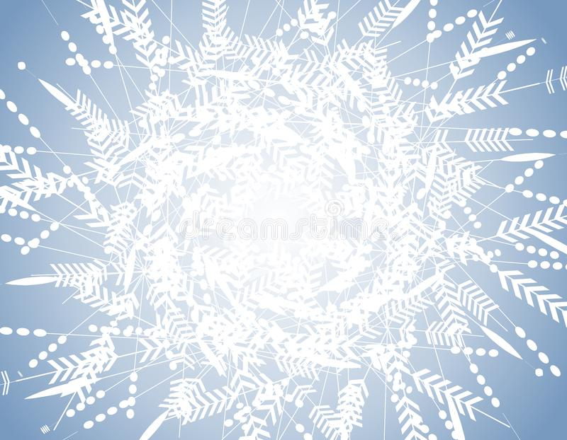 Blue Winter Snowflake Pattern Background stock image