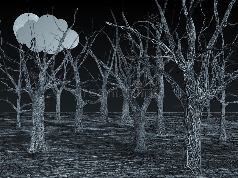 Download Blue Wire Forest stock illustration. Image of blue, design - 21042761
