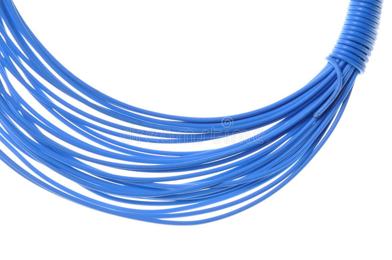 Download Blue wire for power supply stock photo. Image of industry - 26459594