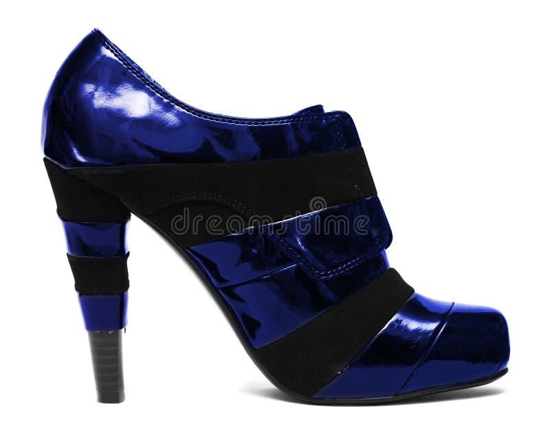Download Blue womanish shoe stock photo. Image of footwear, garment - 12231302