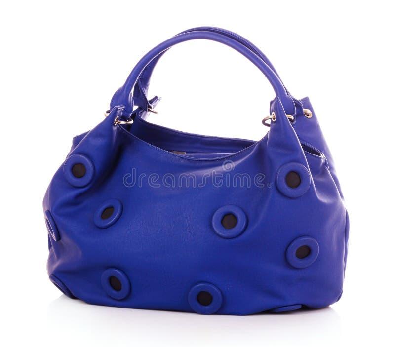 Blue women bag stock photos