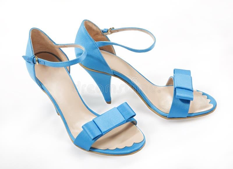 Blue women shoes stock images