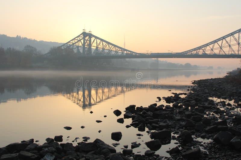 Blue Wonder Bridge royalty free stock photos