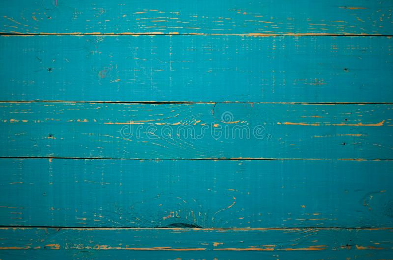 Blue Wood Background, Old Wooden Board Texture royalty free stock photography