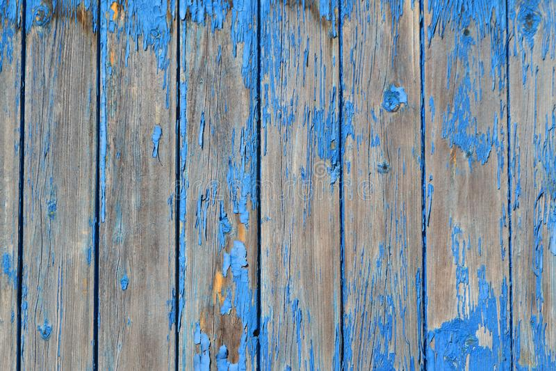 Wood texture background, blue wood planks. Grunge wood wall pattern. Old wooden planks surface background stock photo