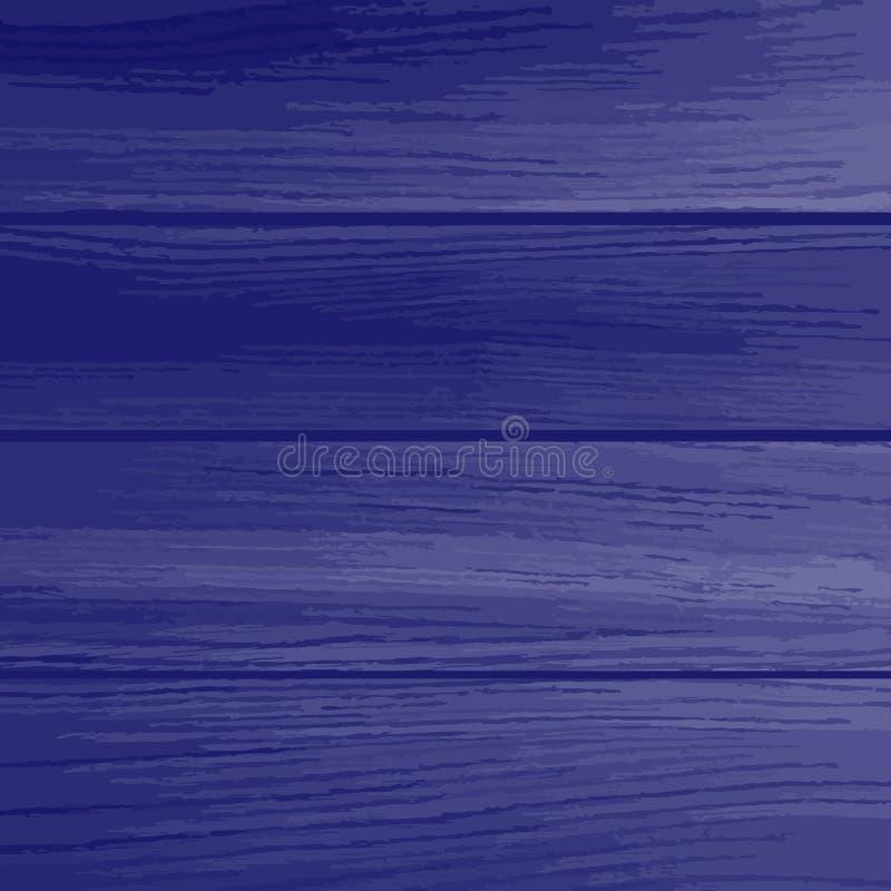 Blue wood planks texture. Vector illustration royalty free illustration