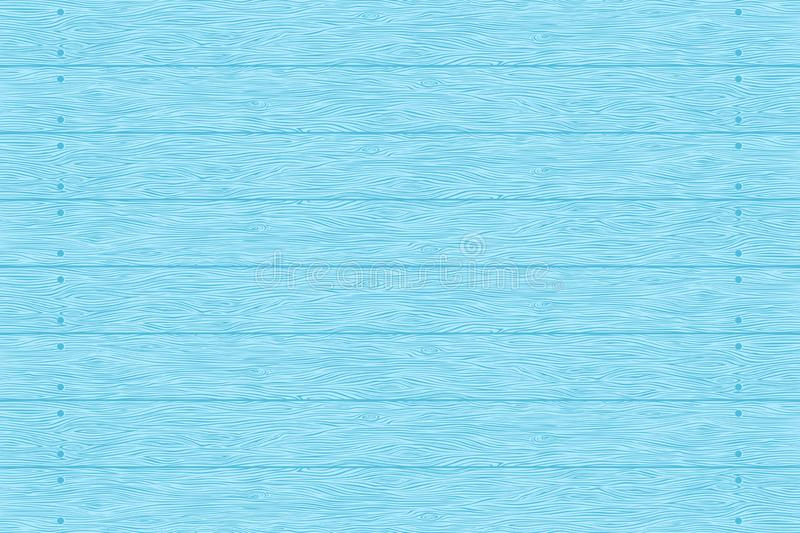 Blue wood planks texture. Wood planks texture. Blue color wall. Vector wooden background. Horizontal stripes stock illustration