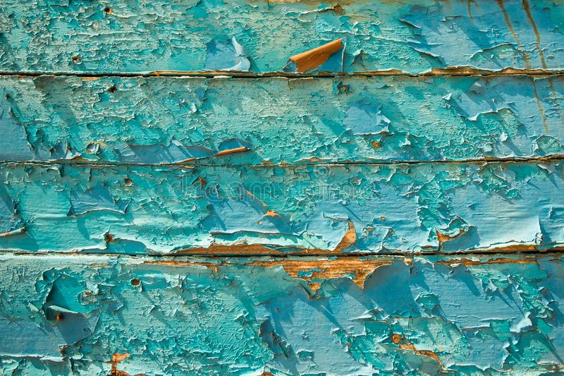 Blue wood texture background with natural patterns. Abstract backdrop stock photo