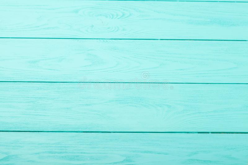 Blue wooden background. Top view. Mock up. Copy space. Template and blank wood texture royalty free stock images