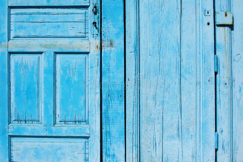 Blue wooden doors background, horizontal royalty free stock photos