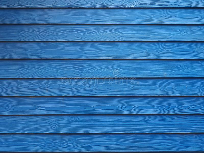 Blue wooden exterior slats background stock photos