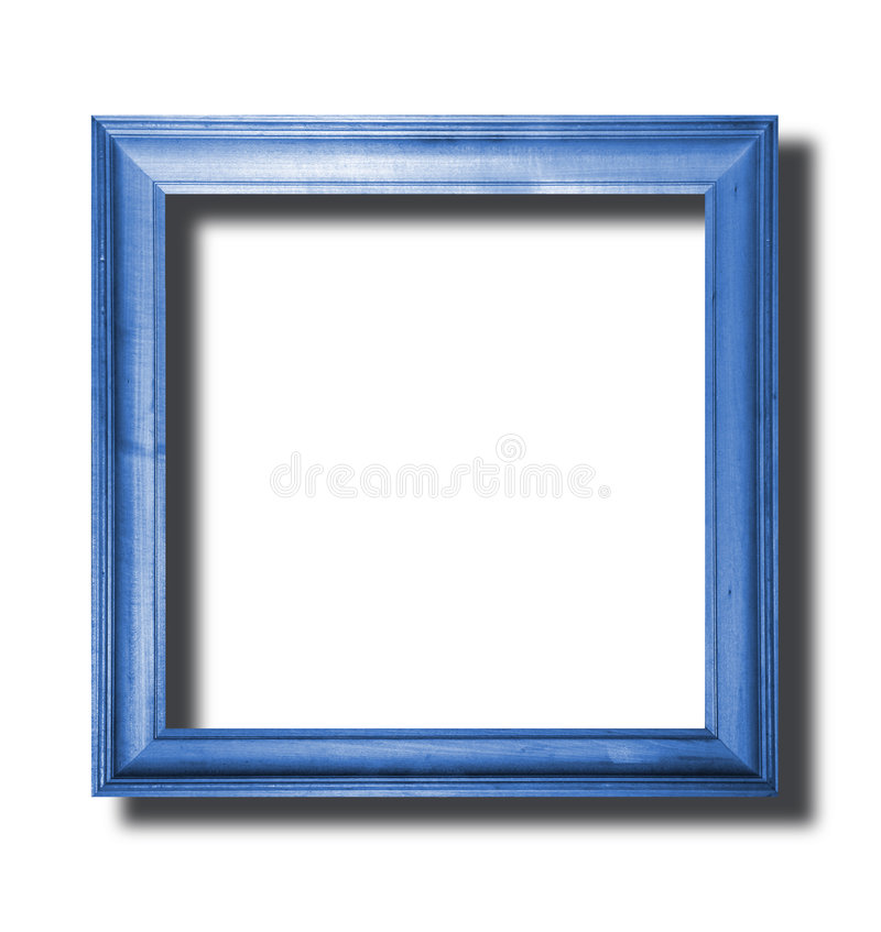 Blue wooden frame royalty free stock photos