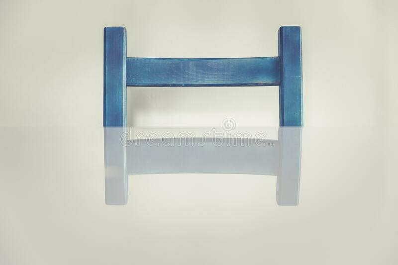 Blue Wooden H Shaped Component royalty free stock photo