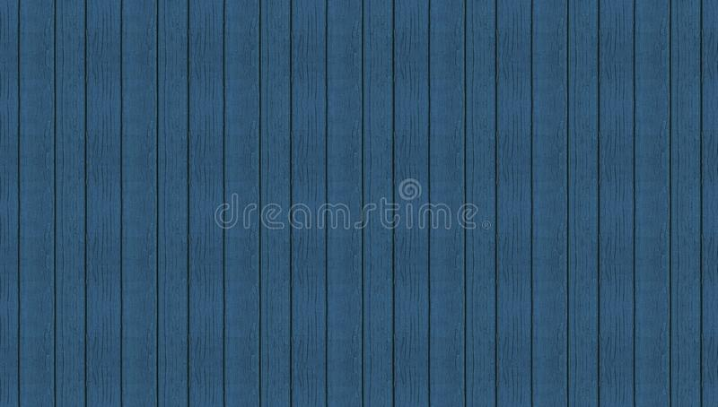 Blue wooden seamless planks panoramic texture. Background stock photography