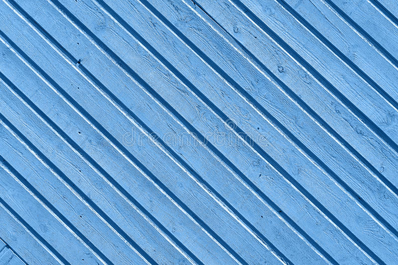 Blue wooden wall stock image