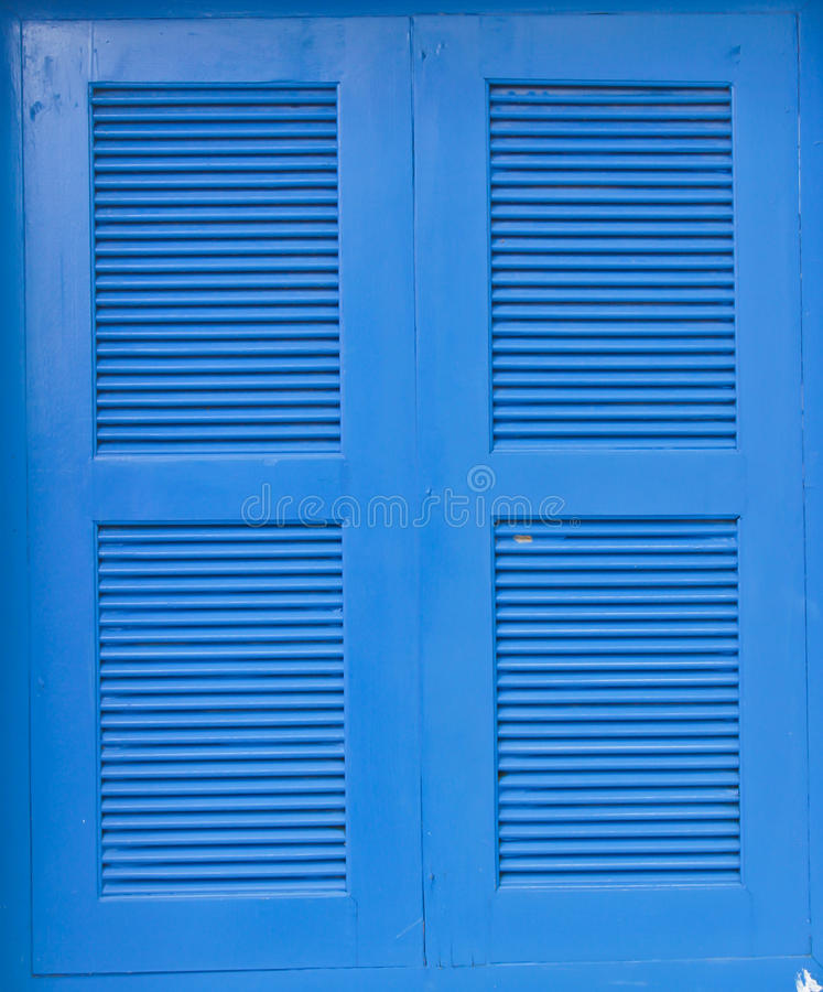 Download The Blue Wooden Window Frames Stock Photo - Image: 83700593