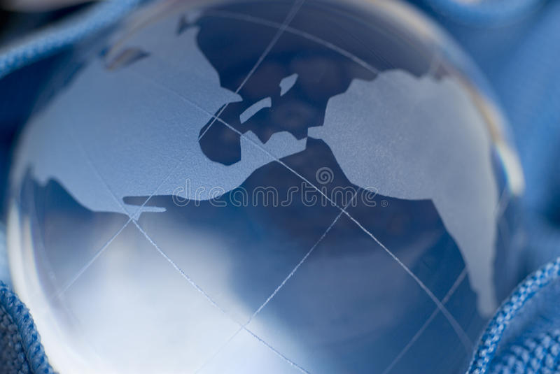 Download Blue World stock image. Image of globe, global, glass - 13273761