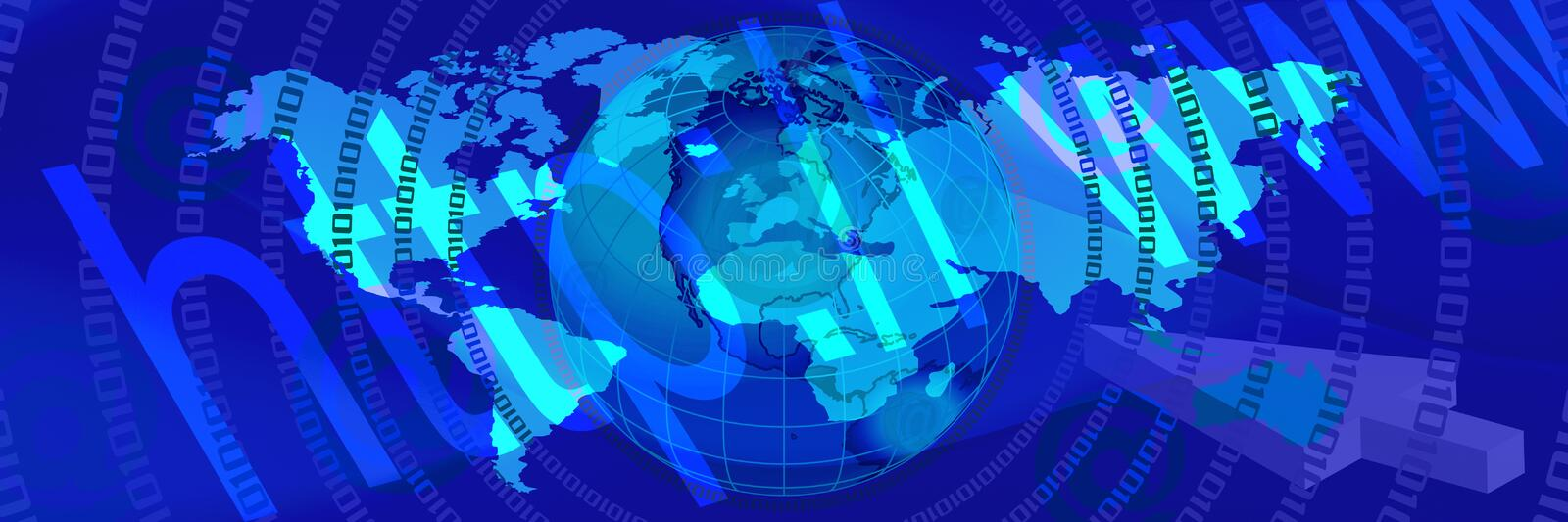 Blue World Banner 3 Royalty Free Stock Images