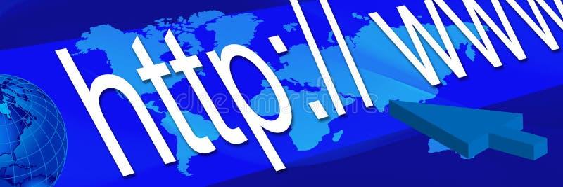 Blue world banner 3 stock illustration