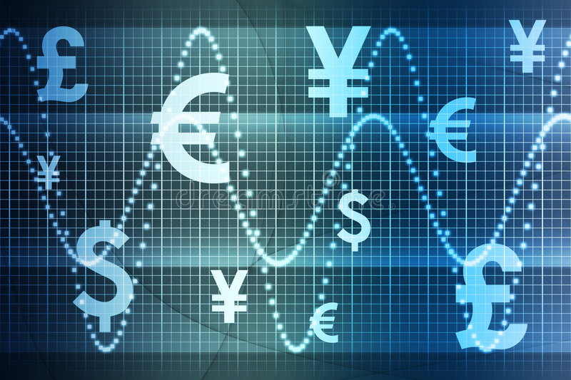 Download Blue World Currencies Business Abstract Background Stock Illustration - Image: 6313926