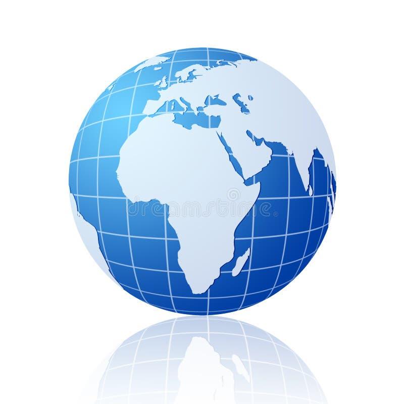 Blue world globe royalty free illustration