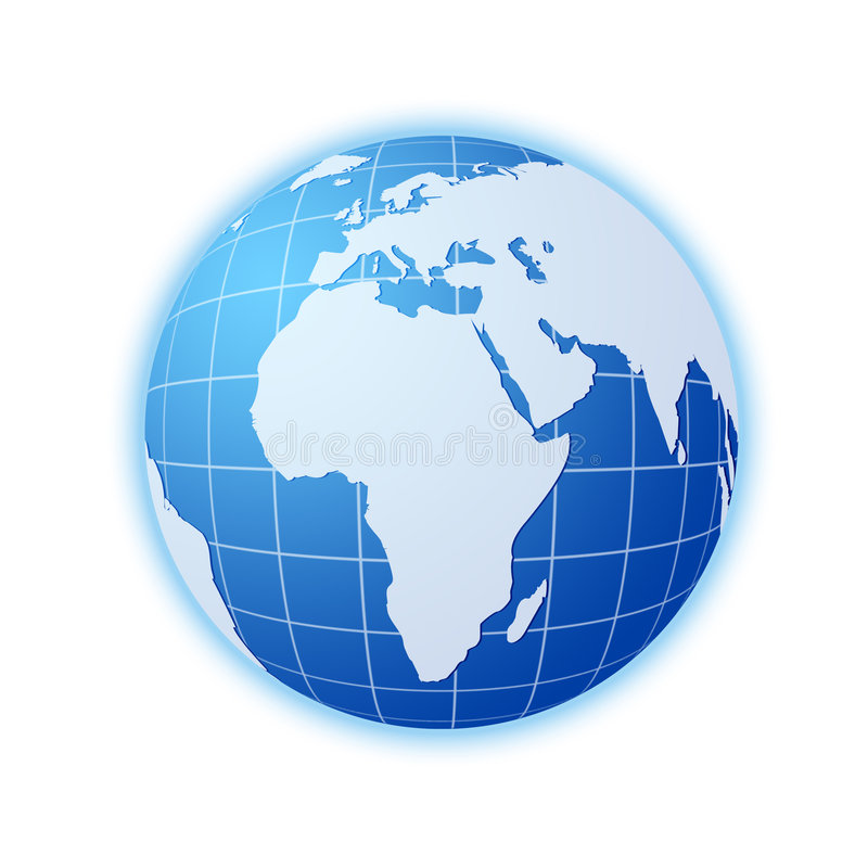 Blue World Globe Royalty Free Stock Image