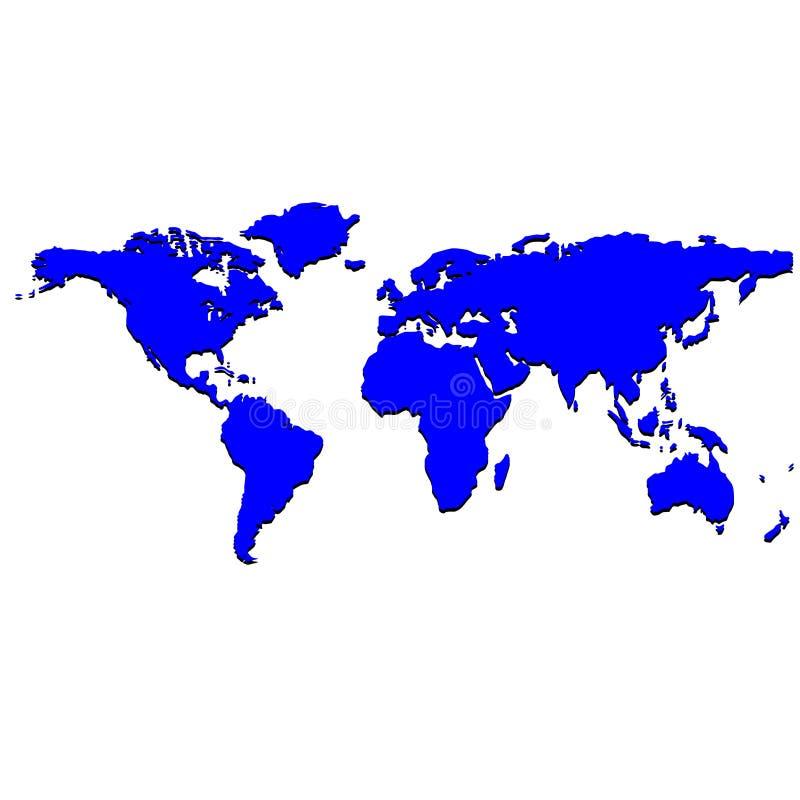 Blue world map stock photos