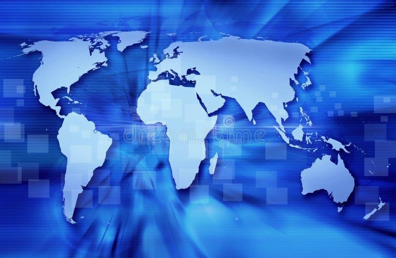 Download Blue world map stock illustration. Illustration of graphic - 4959578