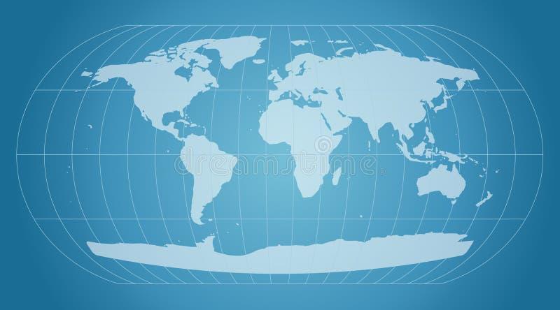Blue world map vector illustration