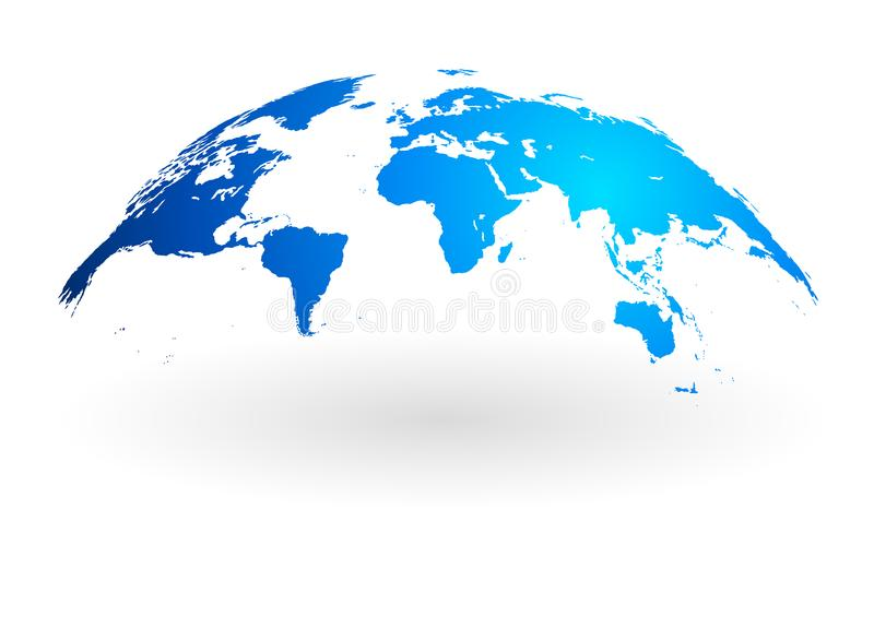 Blue world map globe isolated on white background stock vector download blue world map globe isolated on white background stock vector illustration of black gumiabroncs Image collections