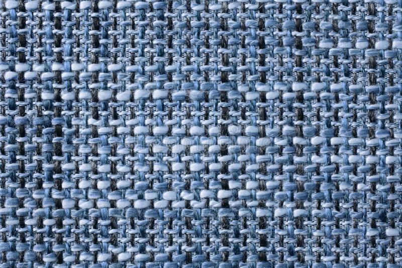 Woven fabric structure , macro. Blue woven fabric structure , macro royalty free stock photography