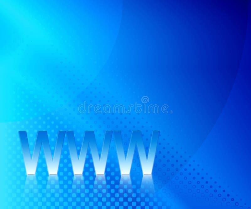 Blue WWW vector illustration