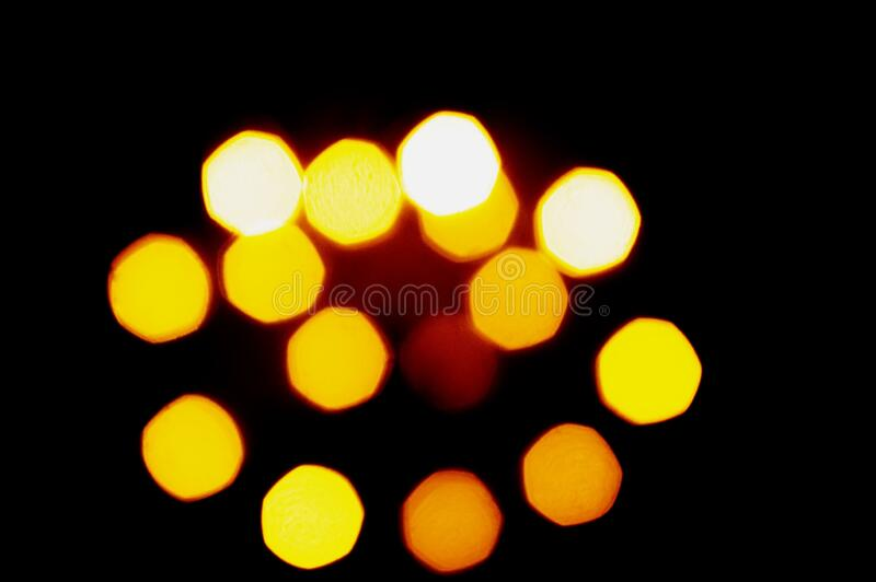 Blue and yellow abstract background with blurry unfocused bokeh light for the template. orange highlights for a design solution.  royalty free stock photo
