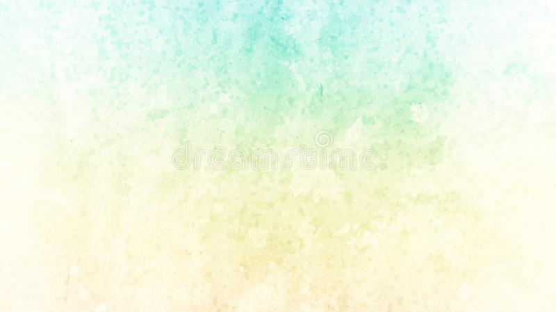 Blue and yellow background with faded white paint grunge design stock illustration