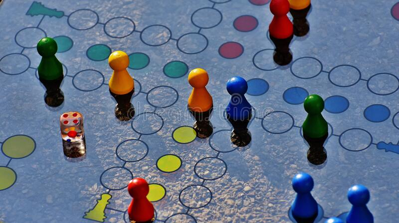 Blue and Yellow Board Game stock photography
