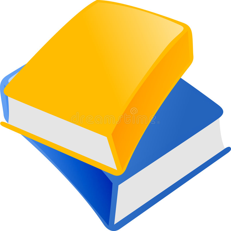 Blue and yellow book vector illustration