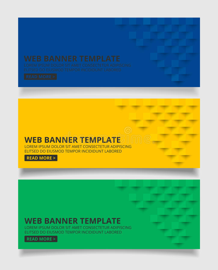 Blue yellow and green square geometric texture background Abstr royalty free illustration