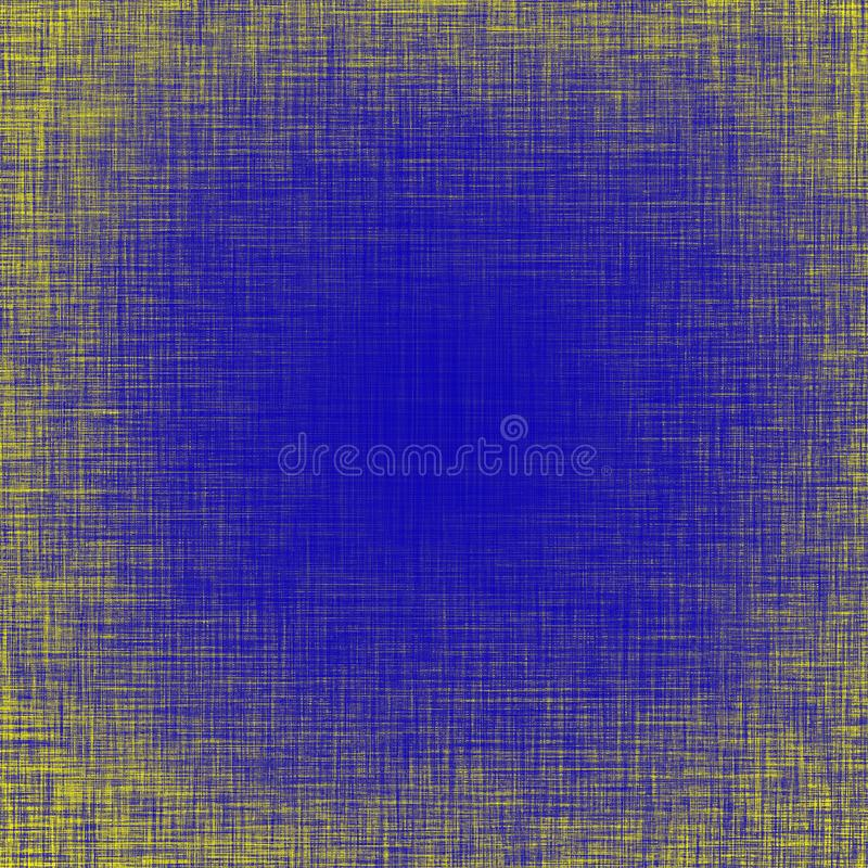 Blue and yellow vibrant grunge distressed background and texture. Blue and yellow grunge background, vibrant colorful distressed texture stock illustration