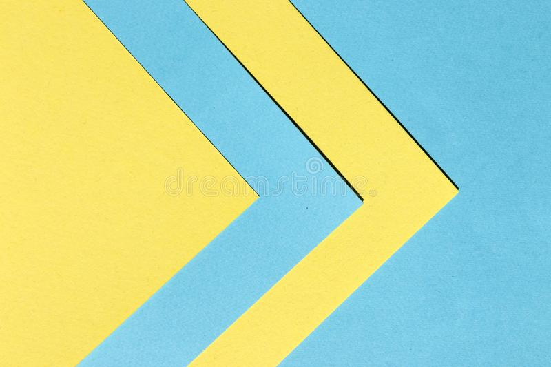Blue and Yellow Papers Texture for Abstract Geometric Background stock photos