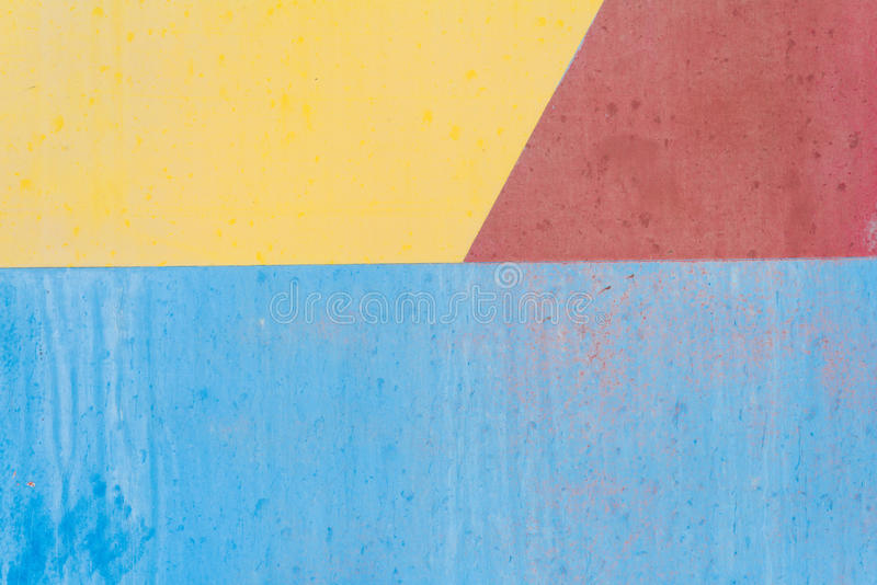 Blue yellow and red old metal background texture stock image
