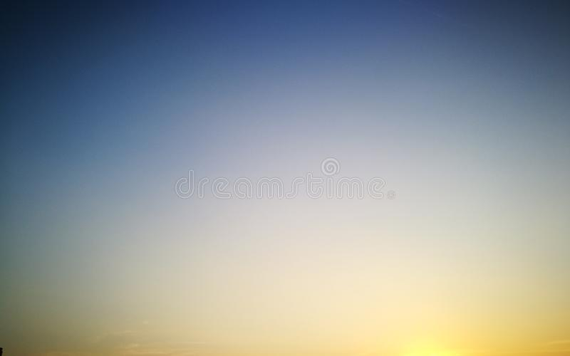 blue yellow sky stock photography