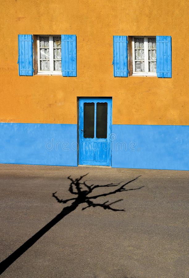 Blue, Yellow, Wall, Sky royalty free stock images