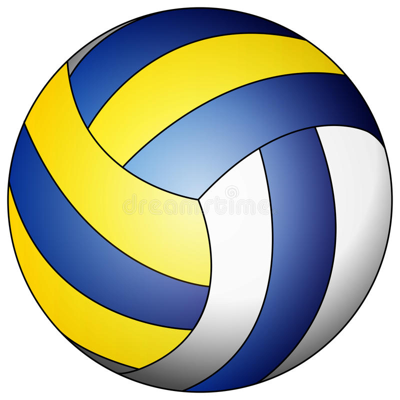 blue yellow white volleyball stock vector illustration of circle rh dreamstime com volleyball vector passing volleyball vector image