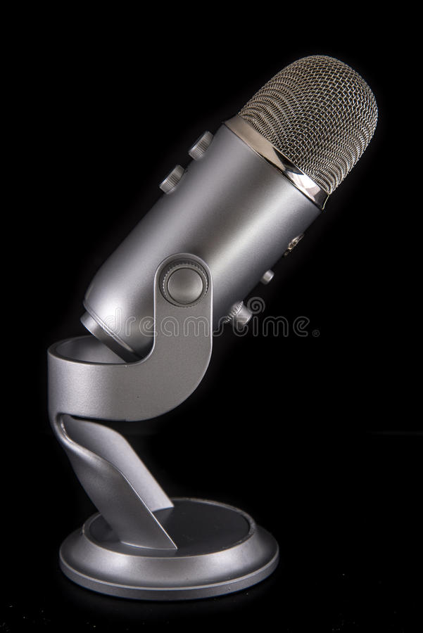 Blue Yeti Podcast Condenser Microphone royalty free stock photo