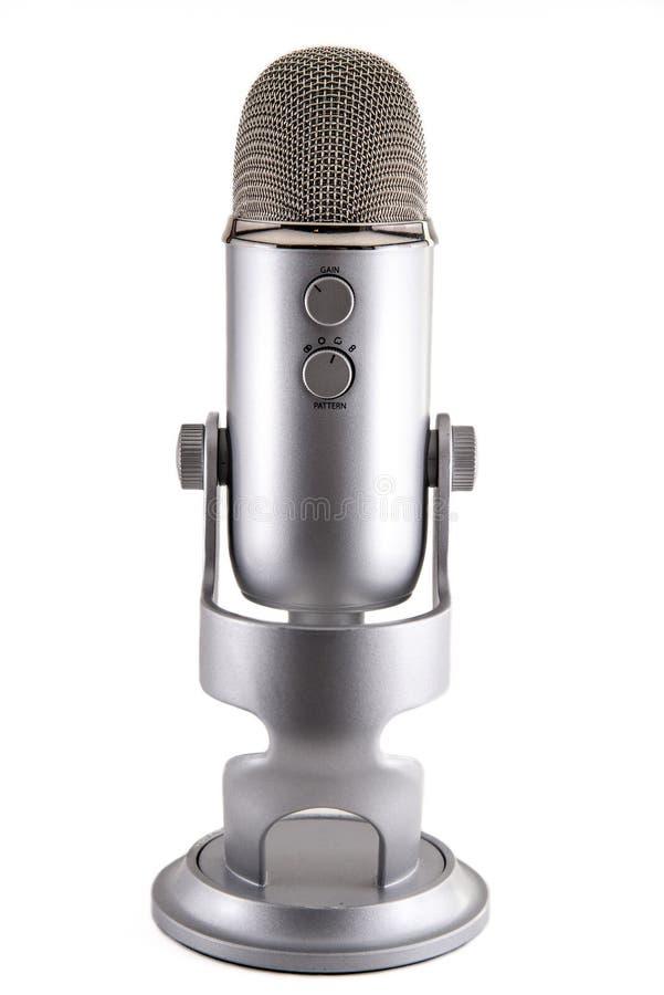 Blue Yeti Podcast Condenser Microphone stock photos