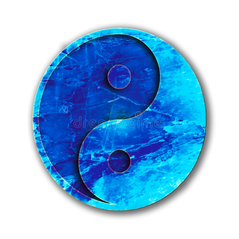 Download Blue Yin yang stock illustration. Image of orient, conceptual - 301161