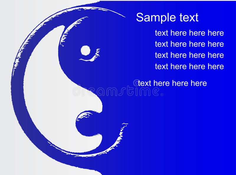 Blue Ying Yang royalty free illustration