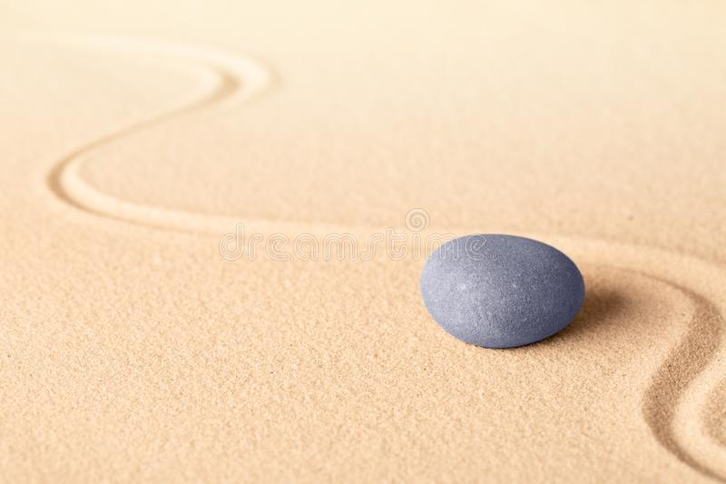 Blue zen meditation stone background stock image